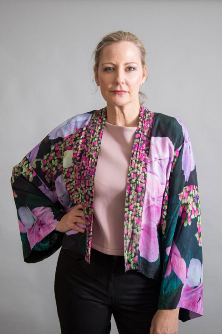 Hydrangea Floral Kimono by From My Mother's Garden