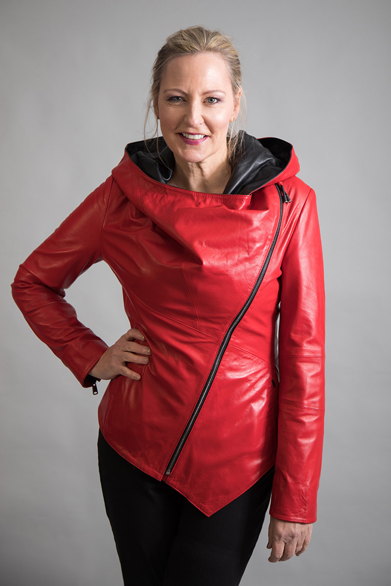 Red Leather Jacket by From My Mother's Garden