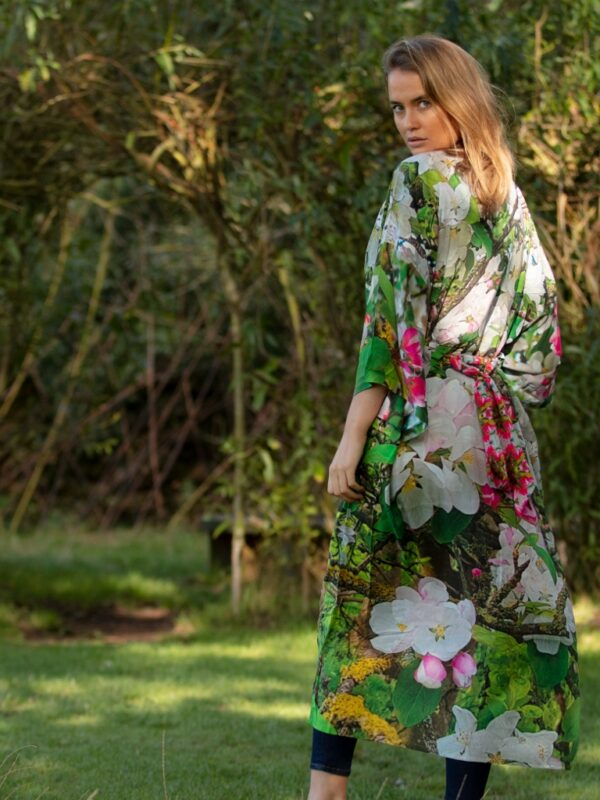 From My Mother's Garden Blossoming Robe in an exclusive Apple Blossom print